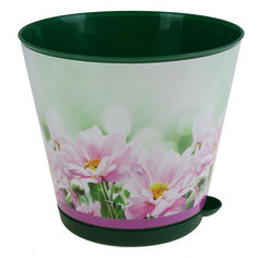 Горшок для цветов Крит D 160 mm с системой прикорневого полива 1,8 л Хризантемы, INGREEN