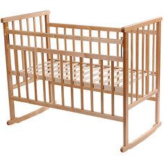 Кроватка-качалка, Мой Малыш, светлый