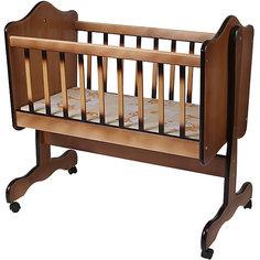 Кроватка-колыбель, Счастливый Малыш,  ореховый