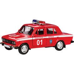 """Машинка """"Lada 2106"""" пожарная охрана 1:36, Autotime"""