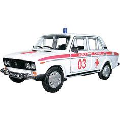 """Машинка """"Lada 2106"""" скорая помощь 1:36, Autotime"""
