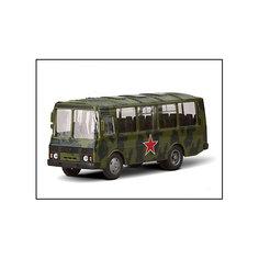 """Машинка """"ПАЗ-32053"""" армейский 1:43, Autotime"""