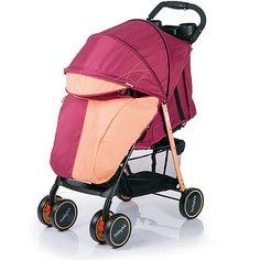 Прогулочная коляска BabyHit Simpy, бордовый/оранжевый