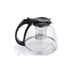 Чайник стеклянный 1300 мл, МФК-профит, черный