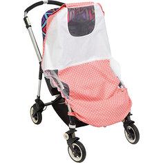 Тент солнцезащитный  для коляски Mammie, горох розовый