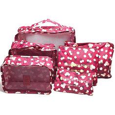 Набор органайзеров для багажа Цветок, Homsu, бордовый
