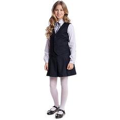 Комплект текстильный для девочки: юбка, жилет Scool S`Cool