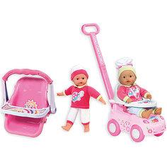 "Кукла ""My Dolly Sucette"" с каталкой, автокреслом и ходунками, Loko Toys"