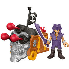 Базовая фигурка пирата Davey Jones & Triple Can, Imaginext, Fisher Price Mattel
