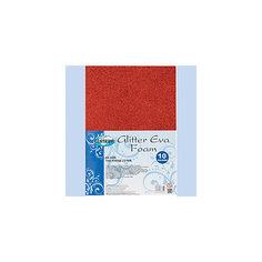 Centrum Набор декоративной бумаги EVA GlITTER, самоклеющаяся, для детского творчества (аппликации), А4, 10 цветов