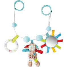 """Подвеска-погремушка Жирафики """"Собачка Билли"""" с зеркальцем и мягкой игрушкой"""