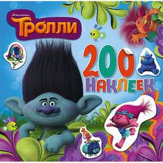 Альбом с наклейками, цвет голубой, Тролли Издательство АСТ