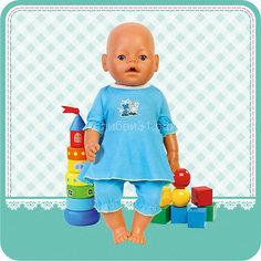 Комплект одежды для куклы 40-42см, платье и бриджи, Карапуз