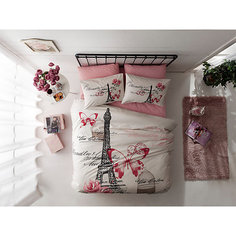 Постельное белье 1,5 сп. Giselle, Ranforce, TAC, розовый