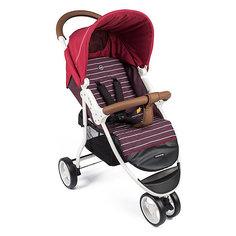 Прогулочная коляска Happy Baby Ultima на белой раме, бордовый