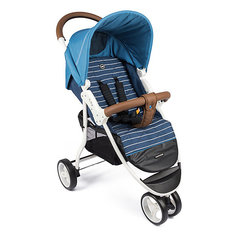 Прогулочная коляска Happy Baby Ultima на белой раме, голубой