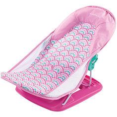 Лежак для купания Deluxe Baby Bather, Summer Infant, розовый,волны