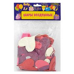 """Воздушные шары """"Сердечки"""", разноцветные, c принтом, 50 шт Action!"""