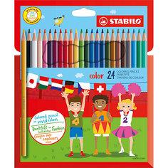 Карандаши цветные 24цв Stabilo