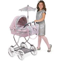 """Коляска с сумкой и зонтиком """"Романтик"""", розовая, 90 см, DeCuevas"""