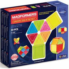 Магнитный конструктор 714006 Window Solid 30 set, MAGFORMERS
