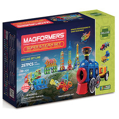 Магнитный конструктор 710009 Super Steam set, MAGFORMERS