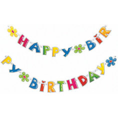 """Гирлянда """" Happy Birthday"""", 1.6 мх11см. Herlitz"""