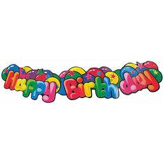 "Гирлянда "" Happy Birthday"", 1.3 м., картон, блистер Herlitz"
