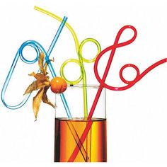 Трубочки для коктейля, гибкие, 25 см. 4 шт Herlitz