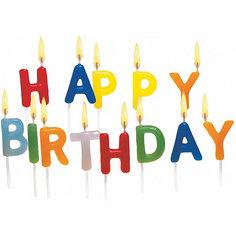 """Свечи для торта """"Happy Birthday"""", 15 шт Herlitz"""
