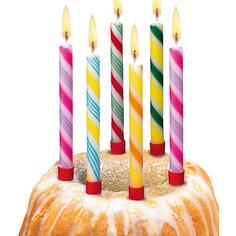"""Свечи для торта """"Леденцы"""", 6 шт, 6 подсвечн., парафин Herlitz"""