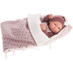 Кукла-младенец Габриэла в фиолетовом, 42 см, Munecas Antonio Juan