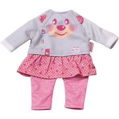 Комплект одежды для дома, 32 см, My Little BABY born, серо-розовый Zapf Creation