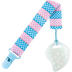 Держатель для пустышки от 0 мес., Roxy-Kids, голубой/розовый