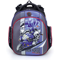 Рюкзак школьный Hummingbird Мото 16, Мотоцикл + мешок для обуви