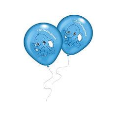 """8 шариков с рисунком """"Голубой слоненок"""" Everts"""