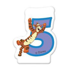 """Свечка для торта """"Цифра 5"""", Disney Винни Пух Procos"""