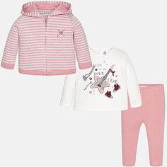 Комплект: жакет, футболка с длинным рукавом и леггинсы Mayoral для девочки