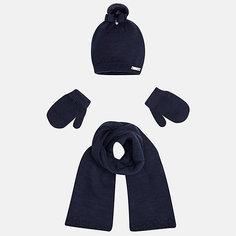 Комплект: шапка, шарф и варежки для девочки Mayoral