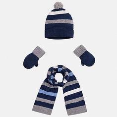 Комплект: шапка, шарф и варежки для мальчика Mayoral