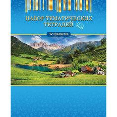 Комплект общих тематических тетрадей 12 предметов 40 листов. Апплика