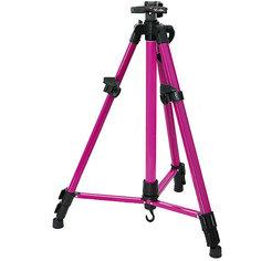 Мольберт телескопический тренога метал. Розовый Белоснежка