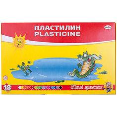 Пластилин ЮНЫЙ ХУДОЖНИК, 18 цветов 252гр. со стеком Гамма Gamma