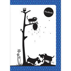 "Тетрадь А5 60листов ""Flex Book"" Animals син Limpopo"