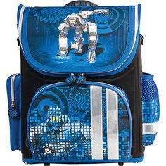 Ранец жесткокаркасный раскладной BRAUBERG для начальной школы, мальчик, Робот, 20 литров, 37*29*17см