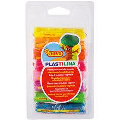Пластилин 8 цветов 120г JOVI, флуоресцентный