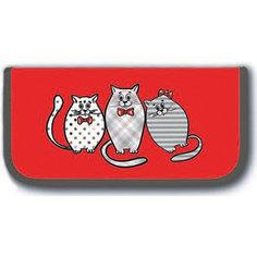 """Пенал школьный """"Котики на красном """" Феникс+"""
