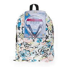 """Рюкзак """"Цветы"""" с наушниками, цвет мульти 3D Bags"""