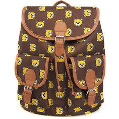"Рюкзак ""Мишки"" с 2-мя карманами, цвет коричневый Creative LLC"