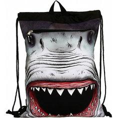 """Сумка-рюкзак """"SHARK Attack"""", с капюшоном, цвет черный/мульти Mojo PAX"""